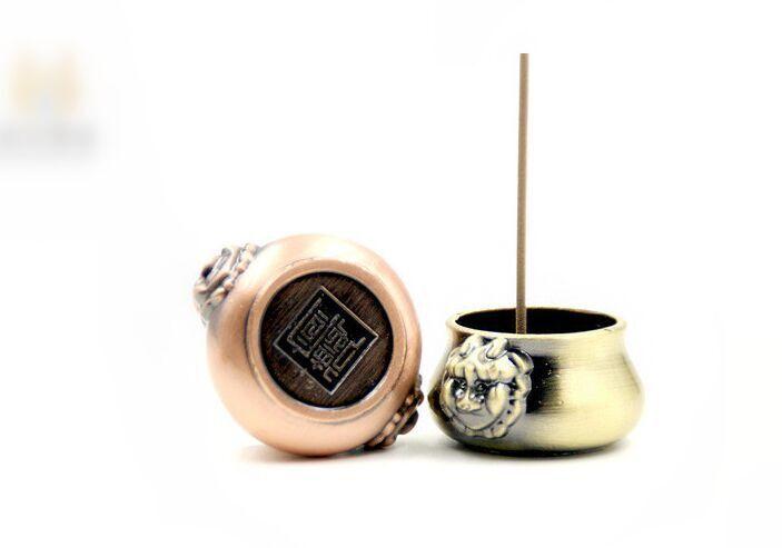 純銅製 香插 獅耳銅爐香插